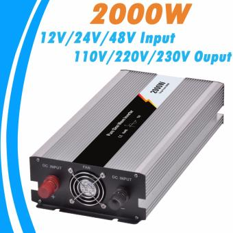 Harga Y-SOLAR 2000W Pure Sine Wave Off Grid Tie Inverter Optional 12V DC Input and 220V AC Output Microprocessor Based Design JYP-2000W-12V-220V - intl