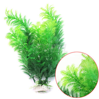 Harga Moonar 30cm Fish Tank Aquarium Decoration Green Artificial Plastic