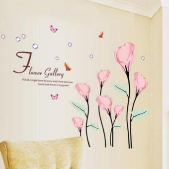 Pink Tulip with Butterflies - Wall Decal Price Philippines