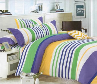 Harga 4 piece monet nautical stripes bedsheet sets