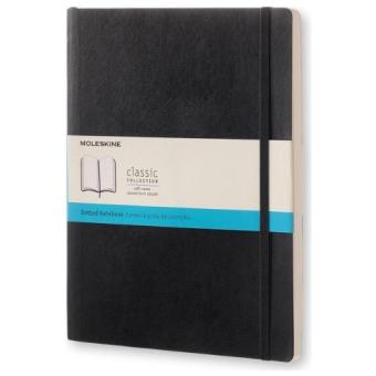 Harga Moleskine Classic Soft Cover Dotted Extra Large Notebook (Black)