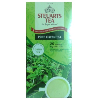 Steuarts Tea PURE GREEN TEA 25 Tea Bags Individually Wrapped Price Philippines