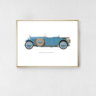 Retro Nostalgic Decorative Paintings Car Hanging Paintings Bedroom Living Room Study Bedside Paintings White 43*33*3cm - intl Price Philippines