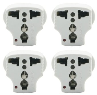 Harga Newstar Universal Traveller Plug Adaptor Package AD-6L-4 (White)