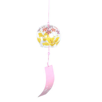 BolehDeals Japenese Culture Glass Bell Hanging Wind Chime Decor Home Garden DIY Gift #5 - intl Price Philippines