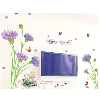 Carnation Flowers Butterflies Wall Sticker Decal PVC Mural Art Home Picture Paper for House Room Decoration Price Philippines