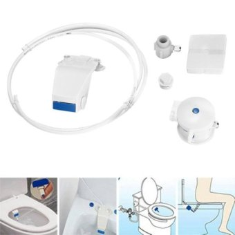 B8100 Sanitary Wall Smart Flushing Clean Tool Toilet Bidet Set(White) - intl Price Philippines
