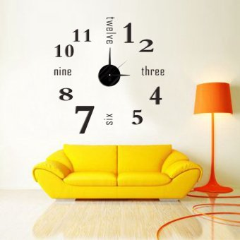 New DIY 3D Art Wall Clocks Home Living Room Office Decor Large Art Modern Design Price Philippines