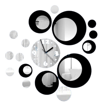 3D DIY Acrylic Mirror Round Pattern Wall Sticker Clock Home Decoration Price Philippines