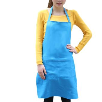 Fashion Light Polyester Kitchen Apron For Women (Blue) Price Philippines