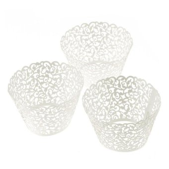 Harga Coconiey 100pc New! Little Vine Lace Laser Cut Cupcake Wrapper Liner Baking Cup Muffin