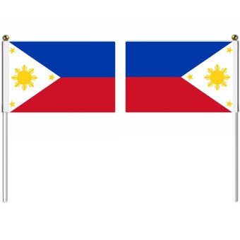 21x14cm Philippines hand flag with pole national flag country flag banners indoor outdoor sports events show wedding staged flag pennants Multicolor (Intl) Price Philippines