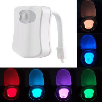 Harga Body Motion Dection Sensor Automatic Seat LED Night Light For Toilet Bowl 8Color
