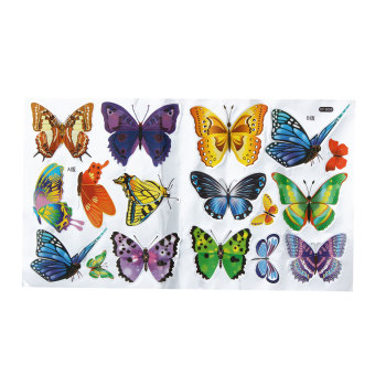 Colorful DIY 17 Butterflies Wall Stickers Mural Art Decals Wallpaper Removable Price Philippines