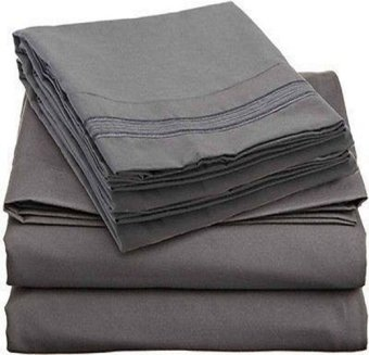 Harga Lux Comfort Bed Sheet Set (Gray)
