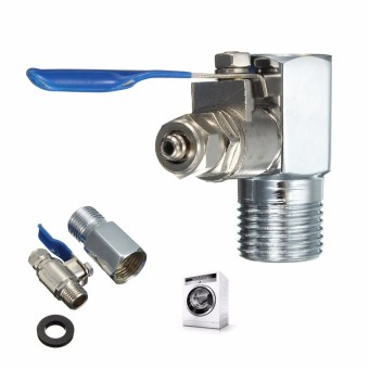 Harga 1/2'' to 1/4'' RO Feed Water Adapter Ball Valve Faucet Tap Feed Reverse Osmosis - intl