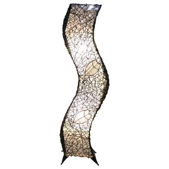 Harga KrigKrafts, Native Nito Fiber LED Lampshade, Floor Lamp, Curved, 2 Fish Pattern, 4 Feet