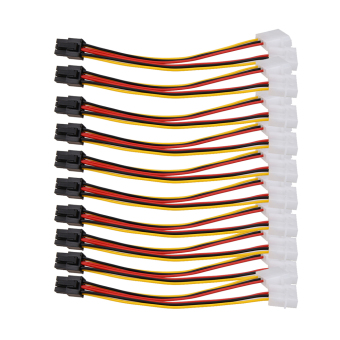 10PCS Molex (4 Pin) to PCI-E (6 Pin) Power Converter Adapter Connector Price Philippines
