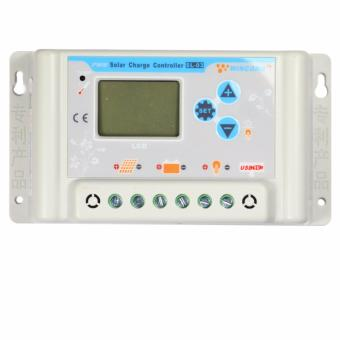 Harga YSMART PWM Solar Controller 30A LCD 36V 48V 60V Auto Work LCD USB 5V Output with Load Light and Timer Control - intl