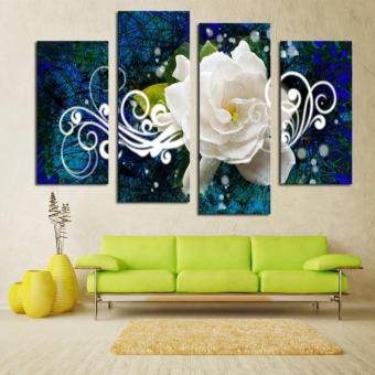 2017 New Home Decor White Rose Abstract Painting Sofa Wall Decoration Painting Hotel Decoration - intl Price Philippines
