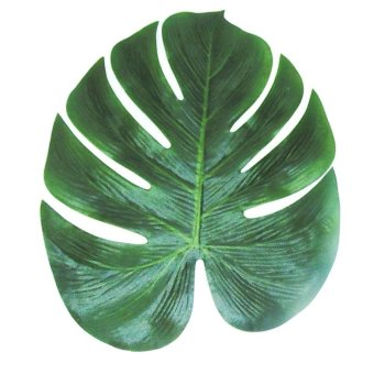12pcs 35x29cm Artificial Tropical Palm Leaves Simulation Leaf for Hawaiian Luau Party Jungle Beach Theme Party Decorations - intl Price Philippines