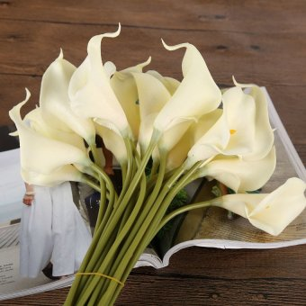 HDL Calla lily Artificial flowers decorative flower milk white Price Philippines