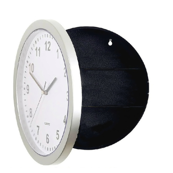 Harga Novelty Wall Clock Diversion Safe Secret Stash Money Cash Jewelry Security Lock Box White