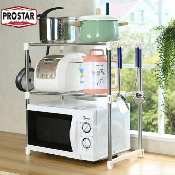 Harga Prostar 2 tier Stainless Steel Microwave Stand / Shelving / Racking