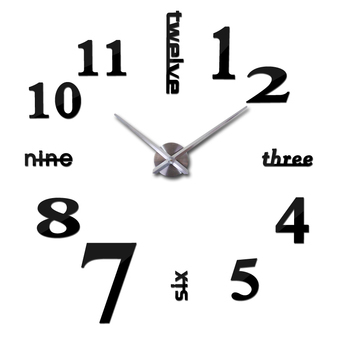 Fashion Home Decoration 3D Diy Wall Clock - intl Price Philippines