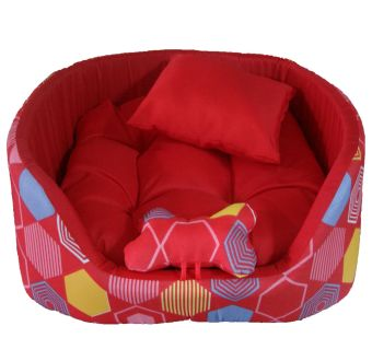 Harga Red Web Play Pet Cat Dog Bed (Red)