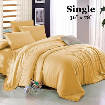 "Sleep Essentials 3-in-1 Fitted Sheets Plain Light Brown Bedsheet -Single 36"" x 78"" Price Philippines"