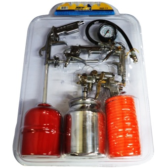 Harga KCT KSG858 High Pressure Air Kit 5-piece Set (Silver)