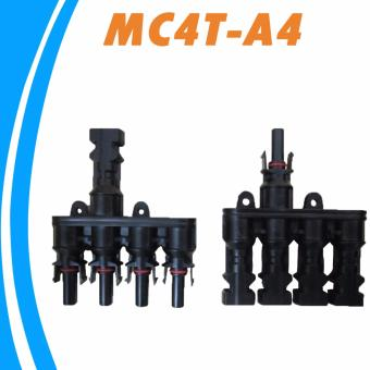 Harga YSMART M/FM Solar Panel MC4 4 to 1 T Branch 30A Solar Panel Connector Cable Coupler Combiner MC4 Panel Cable Connectors - intl
