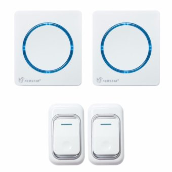 Harga Newstar AC (2) Wireless Digital Doorbell with (2) Remote Switch 100 Meters Range NWB-S2808/W (White)