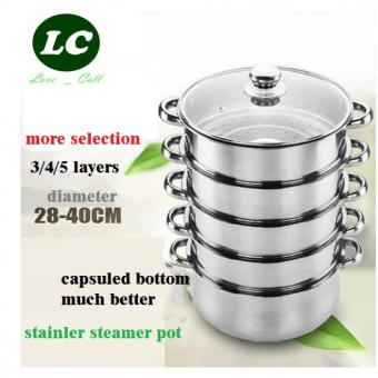 COOKING STEAMING POT 5 layer 40cm STAINLESS STEEL STEAMER POT STOCK POT - Intl Price Philippines