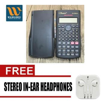 Kenko Scientific Calculator KK-82MS-A with free Stereo In-Ear Headphone (White) Price Philippines