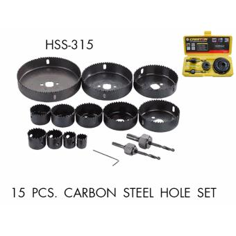 Harga Creston 15pcs Carbon Steel Hole Saw Set