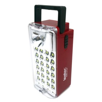 Harga Leetec LT-313 Rechargeable Big Power LED Lantern Emergency Light (Red)