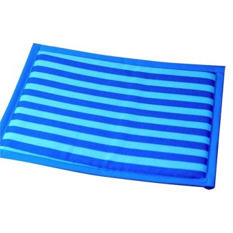 Harga Pet Summer Striped Mat Dog Cooling Cat Pad Breathable Cushion(Blue, M)