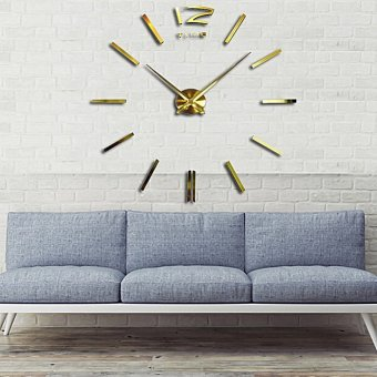 Large DIY 3D Wall Clock Modern Home Decoration Wall Sticker Price Philippines
