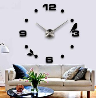 3D Mirror Surface Modern Decoration Art Clock DIY Wall Clock Price Philippines