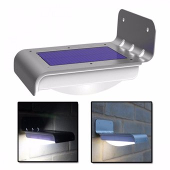 16 LED Solar Powered Waterproof Light With Motion Detector (Silver) Price Philippines