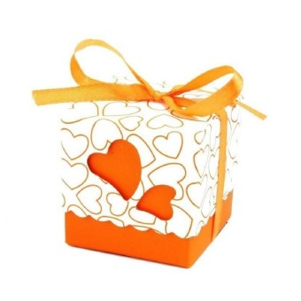 100pcs Square Wedding Favor Boxes Wedding Candy Box Wedding Favors And Gifts Event & Party Supplies Orange (Intl) Price Philippines