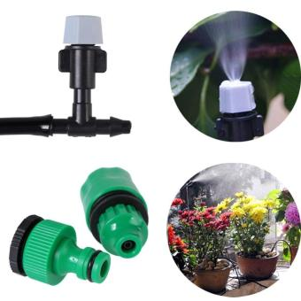 Harga 10m Outdoor Garden Patio Misting Cooling Irrigation System Hose 20 Mister Nozzle - intl
