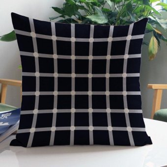 Harga Hot Sale Fashion Exquisite Cushion Covers Geometric Sofa Seat Cushions Funda Patchwork Nordic Home Decorative Linen Pillow Covers 45*45 cm - C - intl