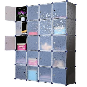 Harga D&D JH-DIY20 Cells DIY Storage Cabinet Magic Piece Free Combination(Black)