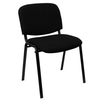 Harga Ergodynamic DVC-103BLK3 Guest Chair Stackable Furniture (Black)