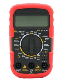 Harga Newstar Digital Multi-Tester DT-830B+ (Red)