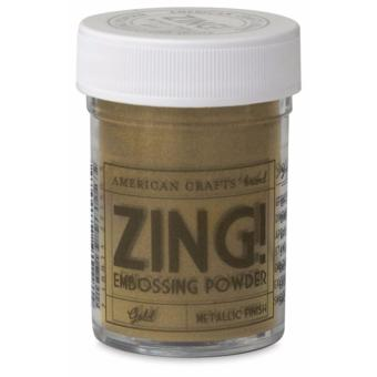 American Crafts Zing Embossing Powder - Gold Metallic Finish (1oz.) Price Philippines