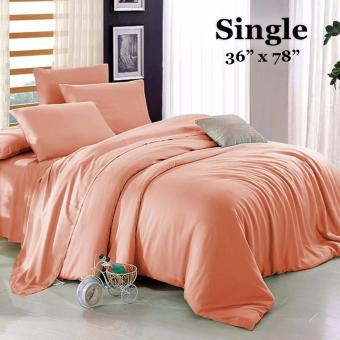 "Sleep Essentials 3-in-1 Fitted Sheets Plain Peach Bedsheet -Single 36"" x 78"" Price Philippines"